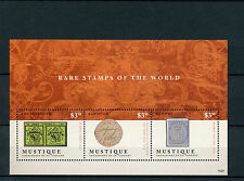 Mustique Grenadines St Vincent 2014 MNH Rare Stamps World 3v M/S Geneva Double