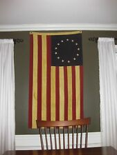 Betsy Ross Cotton Tea Stained Flag - Large 3ft x 5ft