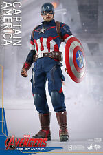 Hot Toys CAPTAIN AMERICA. Age of Ultron, pre-Civil War . Sealed Box! US Seller!