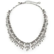 NWT KATE SPADE EXQUISITE EVENING AFFAIR FRINGE COLLAR BRIDAL NECKLACE SILVER