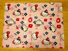 HELLO KITTY FABRIC FQ-48cmX65cm–POLYCOTTON MATERIAL-CHILDREN/KIDS-PINK/WHITE