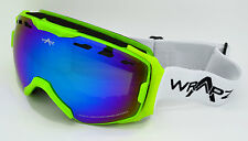 Wrapz 75000 Freestyle 2016 Ski Snowboard Goggles Fluorescent Green & Mirror Lens