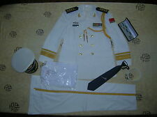 Obsolete 07's China PLA Navy Man Officer Summer Full Dress,White,Set