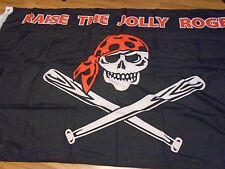 """PITTSBURGH PIRATES """" RAISE THE JOLLY ROGER """"  3 X5 FLAG W/ GROMMETS"""