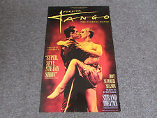 Forever TANGO the Eternal Dance Sexy Steamy Show STRAND Theatre Original Poster