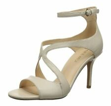 Nine West Gerbera 8.5 M Off White Leather Open Toes Ankle Strap Sandals New Box