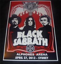 Black Sabbath concert poster Alphones Arena Sydney Australia 2013  A3 size repro