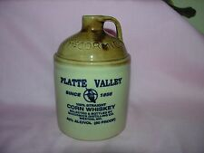 VINTAGE McCormick Platte Valley Straight Corn Whiskey Stoneware Jug 6.5""