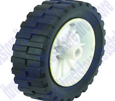 "7"" INCH SEMI SOLID HARD RUBBER FLAT FREE REPLACEMENT TIRE WHEEL RIM MOWER CART"