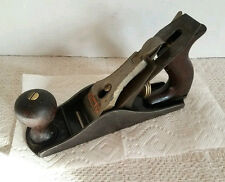 "VINTAGE STANLEY BAILEY NO #3 SMOOTH WOOD PLANE WOODEN HANDLES 9"" LONG"