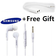 Genuine Samsung Earphones Headphone For Galaxy S4 S5 NOTE4,3  +Dual Adabter Jack