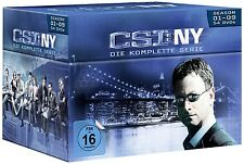 CSI: NY-SEASON 1-9 KOMPLETTBOX 54 DVD NEU