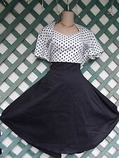 SWEET HEART NECK POLKA DOT DRESS 2-3X PLUS NEW RETRO ROCKABILLY WEDDING