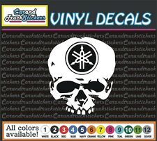 "6"" Yamaha Motorcycle Racing Skull Crossbones Vinyl Decal window sticker"