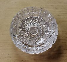 Vintage Bohemian Queen Lace Cut Glass or Crystal Ash Tray