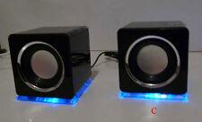 Design USB Lautsprecher Boxen für Laptop PC TV Schwarz (DS)