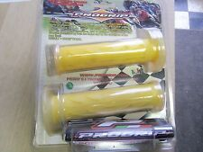 "PROGRIP GP GEL grips yellow TRANSPARENT best grip in weather 7/8""absorbs VIBRATI"
