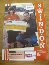 13/01/1990 Swindon Town v Oldham Athletic  . Item appears to be in good conditio