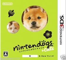 Used nintendogs + cats Shiba & NEW FRIENDS NINTENDO 3DS JAPANESE  IMPORT