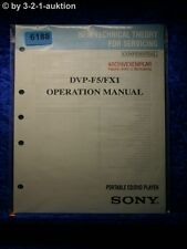 Sony Operation Manual DVP F5 /FX1 CD/DVD Player (#6188)