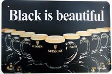 GUINNESS BEAUTIFUL RETRO METAL TIN SIGNS vintage cafe pub bar garage