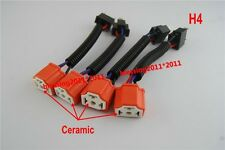 6V HI HEAT HEADLIGHT HEADLAMP LIGHT BULB WIRING HARNESS CERAMIC SOCKET PLUG 4PCS