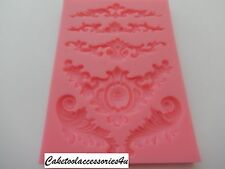 Flower Leaf Silicone Fondant Mould Border Cake Lace Decorating Icing Sugarcraft
