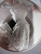 7/8 -OZ .STERLING SILVER COIN SPIRIT OF BOY SCOUTS OF AMERICA REVERENT +GOLD B/U