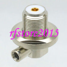 1pce Connector UHF SO239 female bulkhead 90° solder RG58 RG142 LMR195 RF COAXIAL
