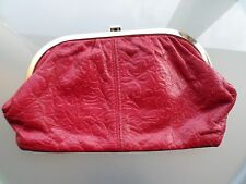 Vintage Red leather Clutch bag
