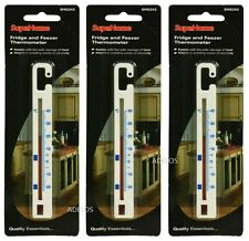 3 x WHITE PLASTIC FRIDGE AND FREEZER THERMOMETERS