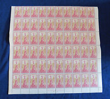 "1945 New Zealand 2d Two Penny Health Stamps ""Peter pan"" Block of 60"