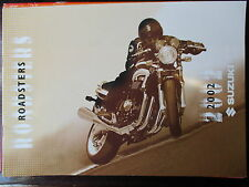 BROCHURE CATALOGUE 12 PAGES 2002 MOTO SUZUKI ROADSTERS 1400 A 600 GSX GSF SV GS