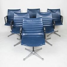 Early Blue Herman Miller Eames Aluminum Group Executive Task Chairs (3 Pairs)