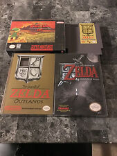 Zelda Ganon's Revenge, Shadow of Night, Outlands, and Zelda BS NES SNES Box CIB