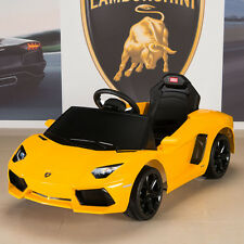 Lamborghini Yellow Aventador Kids Ride On Battery Power Wheels Car with Remote