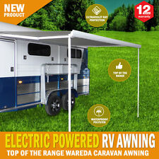 Electric Caravan Awning Roll Out 3.5m x 2.5m NEW Italian Designed Wareda