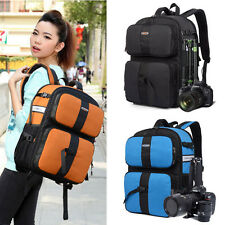 DSLR SLR Camera Backpack Laptop Bag Padded Rucksack Daypack Removable Insert New