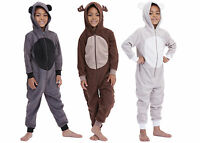 Boys Animal Hooded Onesie All In One Age 4 5 6 7 8 9 10 11 12 Years Select Size