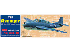 TBF Avenger, Stick and Tissue, free flight, Model Airplane Kit 509, Rubber Power