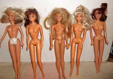 """Lot of 5 Fashion Doll 11 1/2"""" Dolls Nude Various Makes Nice"""