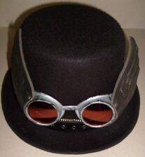 "STEAMPUNK BLACK COSTUME DELUXE TOP HAT 6"" HIGH 25""  WITH GLASSES ADULT COSPLAY"