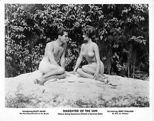 DAUGHTER OF THE SUN vintage 1962 naturist nudist photo, naked man & woman