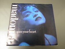 "1986 MADONNA – Open Your Heart  7"" 45 Picture Sleeve EX/VG+ SIRE 7-28508"