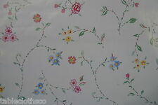 """1.4m/55"""" ROUND flowers wipe clean vinyl oilcloth cover wipeable TABLE CLOTH CO"""