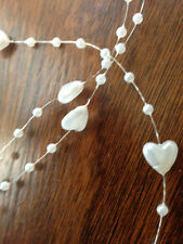 Heart pearl beads wedding garland centerpiece flower/table decoration 1/3m