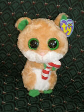 "Ty Boo 6"" CANDY CANE  ~ Hamster ~ Mouse  RARE Mint/Mint tag ~ Christmas"