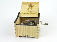 Personalized Hand Crank Wooden Music Box (Elvis - Love Me Tender)