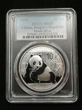 2015 1oz .999 Fine Silver Chinese Panda Silver Coin PCGS MS69