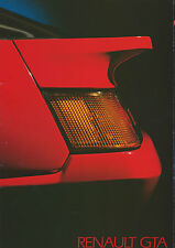 Renault GTA Brochure V6 & V6 Turbo Models 1986 30 Pages In Great Condition